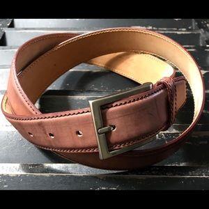 TARDINI Men's Genuine Italian Leather Belt Size 40